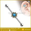 Kundengebundener chirurgischer Stahlopal-Blume 14g industrieller Barbell