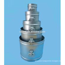 Round Galvanized Steel Airtight Damper