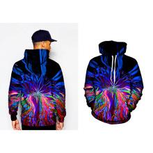 Men′s Spray Long Pullover Painting Hoodies