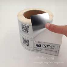 mate material de PET negro impresión de etiquetas al por mayor