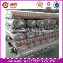 telas de algodón teñidas hilado del telar 50% cotton 50% poliéster Tejido de algodón del cheque de la porción común