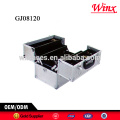 2015 China hard case tool box , aluminum tool case with 4 plastic trays inside