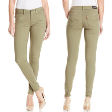 Factory OEM Women Pants Color Pants Casual Trousers Garment Dye Pants