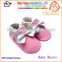 Weiche Sohle stilvolle echtes Leder Baby Schuhe