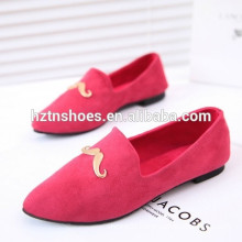 2015 Fashion women's casual loafer shoes lady leisure shoes flock driver boating shoes