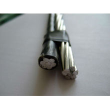 abc cable pe/xlpe insulated cable AAAC/AAC conductor duplex service drop cable