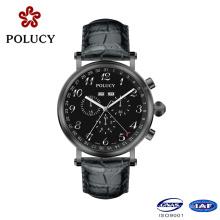 Ver reloj de hombre de alta calidad de cuero genuino OEM de fábrica