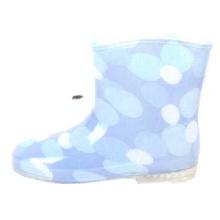 Baby голубой пунктирной накладки ПВХ дождя сапоги