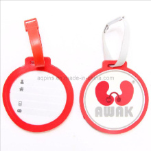 Round Soft PVC Luggage Tag with Logo