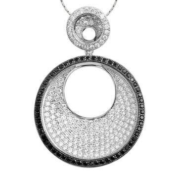 Горячие продажи Micro Setting 925 Silver Circle Pendants Jewelry