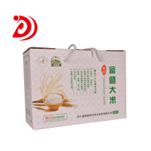 Rice cardboard box with handle