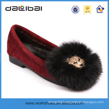 Latest 2014 new flat design lady leather soles casual flat shoes