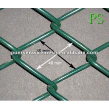 40 * 40 revestimiento de PVC de la cadena de seguridad de enlace de enlace malla de la jaula (Factory + Company)