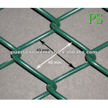 40 * 40 PVC Coated Chain Link Fence painel Cage malha (Factory + Company)