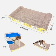 Bone shape cat nail scratching board