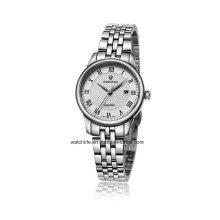 Edelstahl-Quarz-Art- und Weisepaar-Armbanduhr