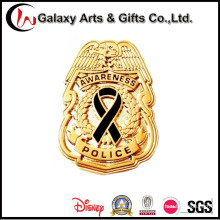 Die Casting Police Badge Gold Plated Label Pins