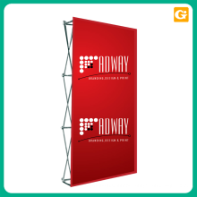 Custom carbon fiber a frame pop up banner