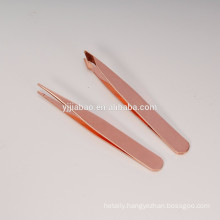 mini rose gold tweezers set