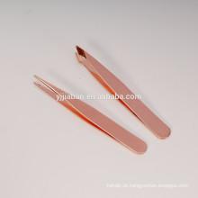 conjunto de mini pinças de ouro rosa