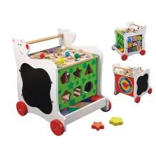 Carro de juguete de madera con ruedas para niños de 3 años de edad