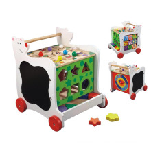Wooden Toy Cart with Wheels for Kids 3 Years up