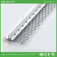Grade de canto em alumínio em alumínio em forma de V expandida em prata para concreto