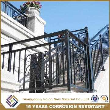 Balaustrada de aluminio moderno de la escalera