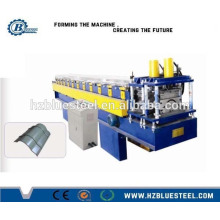 Automatic Aluminium Step Roof Ridge Cap Roll Forming Machine For Sale, Top Cap Forming Making Machine