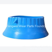 Mn18cr2 OEM Metso Casting Wear Parts Cone Crusher Bowl Liner HP100 HP200 HP300 HP400 HP500