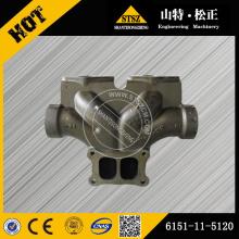 Komatsu exhaust manifold center 6151-11-5120 for PC400-7