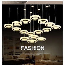 Elegant Living Room Decoractive Lâmpada LED Chanderlier Luz Cristal