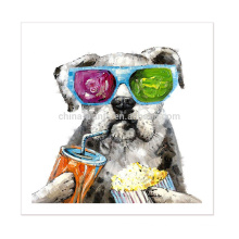 New Modern Design Animal Painting Dog Painting Picture On Canvas For Home Decor