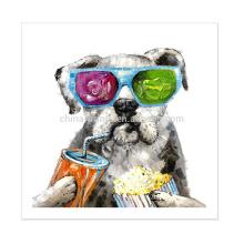 Pintura animal nova do retrato da pintura do cão do retrato moderno na lona para a decoração Home