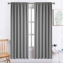 Cortinas cinza de bolso de haste de 72 polegadas de comprimento