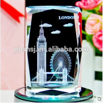 3D Laser Crystal Cube With Customized Logo For Business Souvenir Gifts