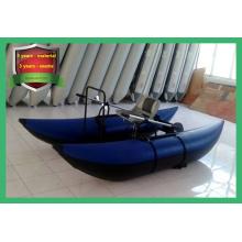 Barco de pesca inflável de PVC, barco de pesca com pontão