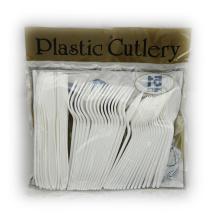 Colher de plástico garfo faca misturada