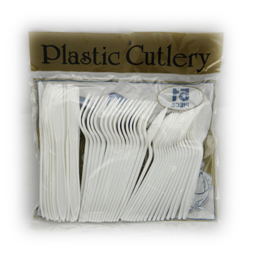 Couteau à fourche en plastique