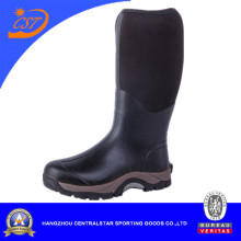 Knee High Mens Black Rubber Boots
