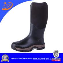 Botas de goma negras para hombre Knee High