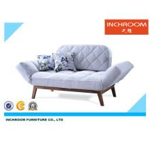 Sofá cama de tecido flexível moderno Mobiliário de sala de estar