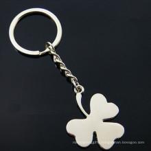 Promotion Silver Customer Logo Four Leaf Clover Key Chain (F1331)
