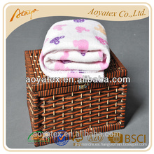 Cheap impreso lovey animal al por mayor bebé swaddle mantas