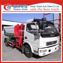 DFAC гидравлический мусоровоз, боковой погрузчик для продажи