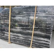 Китайский черно-белый мраморный серебряный дракон