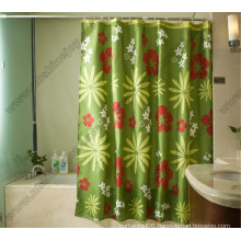 Spring Flower Polyester Shower Curtain