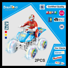 Kids powered toy with transparent wheel electric mini motorcycle