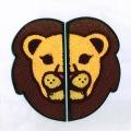 優れた品質のライオンの頭部シャニール刺繍パッチ