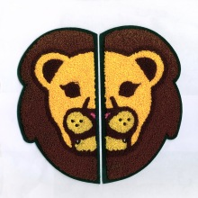 Excellent Quality Lion's Head Chenille Embroidery Patches